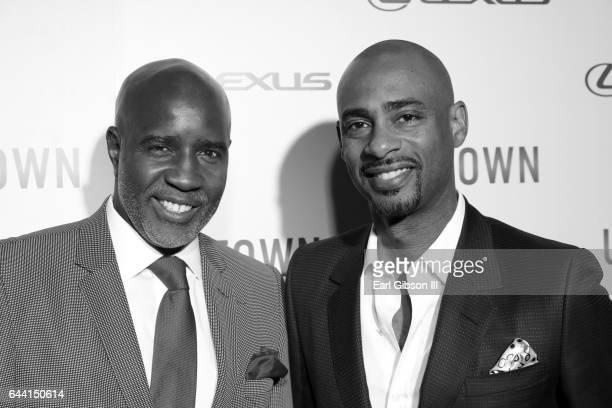 CEO Leonard Burnett and film maker Charles D King attend Uptown Magazine's PreOscar Gala on February 22 2017 in Los Angeles California
