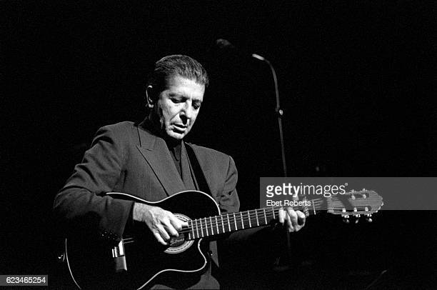 Leonard Cohen performing at the Beacon Theater in New York City on November 16 1988