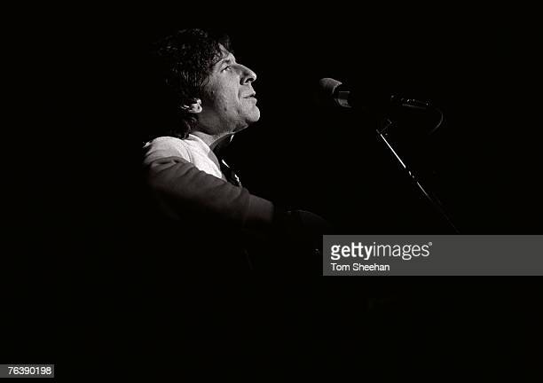 Leonard Cohen Performing At The Hammersmith Odeon London