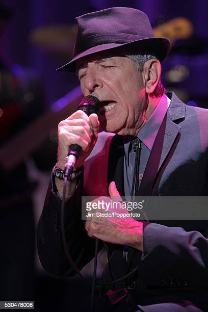 Leonard Cohen performing on stage at Wembley Arena in London on the 8th September, 2012.