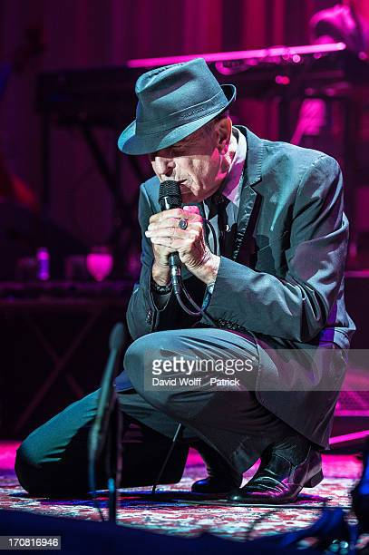 Leonard Cohen performs at Palais Omnisports de Bercy on June 18 2013 in Paris France