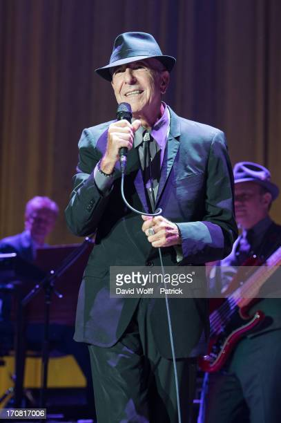 Leonard Cohen performs at Palais Omnisports de Bercy on June 18, 2013 in Paris, France.