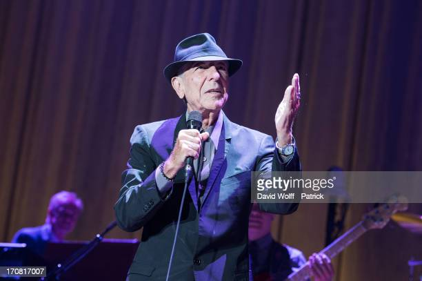 Leonard Cohen performs at Palais Omnisports de Bercy on June 18 2013 in Paris France