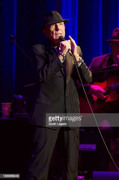 Leonard Cohen performs at The Fox Theatre on November 26 2012 in Detroit Michigan