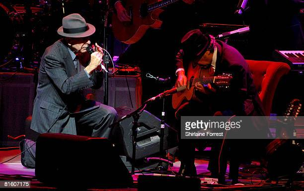 Leonard Cohen performs at the Manchester Opera House on June 17 2008 in Manchester England