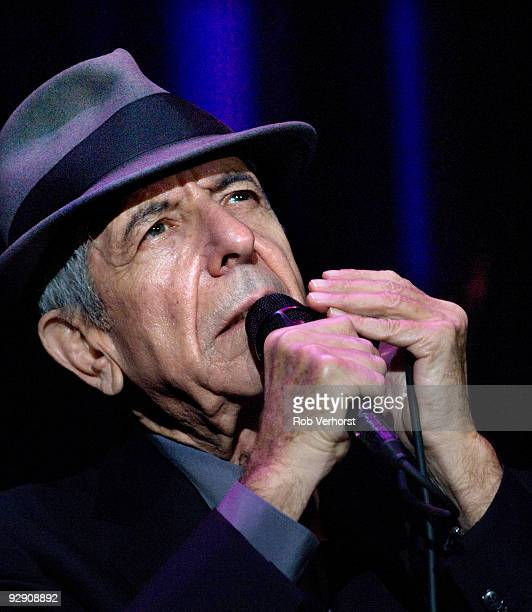 Leonard Cohen performs live at the Ahoy in Rotterdam, Holland on November 03 2008