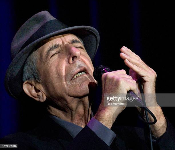 Leonard Cohen performs live at the Ahoy in Rotterdam Holland on November 03 2008