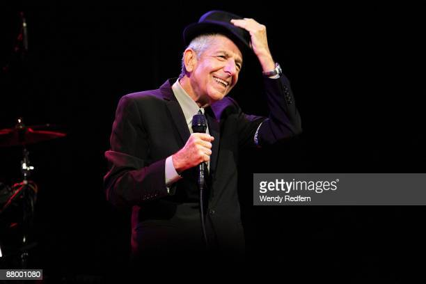 Leonard Cohen performs on stage at Coachella Festival 2009 at Empire Polo Field on April 17 2009 in Indio California USA