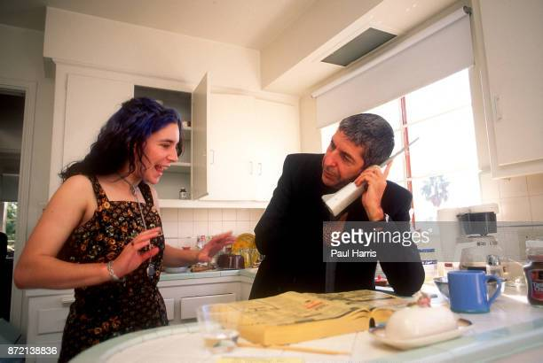 Leonard Cohen photographed in his almost bare apartment before he left to be a Tibetan Buddhist Monk in some pictures he is with his then 16 year old...