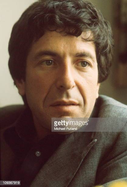 Leonard Cohen portrait London June 1974
