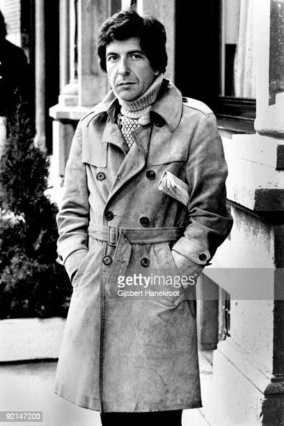 Leonard Cohen posed in Amsterdam Holland in April 1972