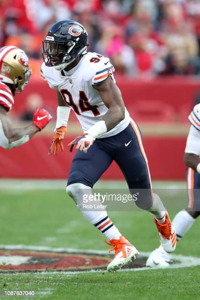 Leonard Floyd of the Chicago Bears in action during the game against the San Francisco 49ers at Levi Stadium on December 23 2018 in Santa Clara CA...