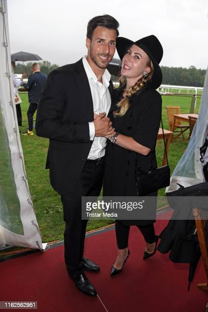 Leonard Freier and his wife Caona Freier attend the Audi Ascot Race Day at Neue Bult horse racing track on August 18 2019 in Langenhagen Germany