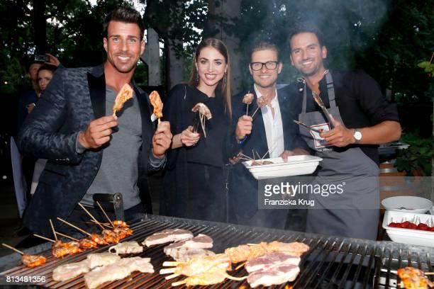 Leonard Freier Ekaterina Leonova Joern Schloenvoigt and Alexander Wahi attend the Kaufland Hosts VIP BBQ at OberhafenKantine on July 12 2017 in...
