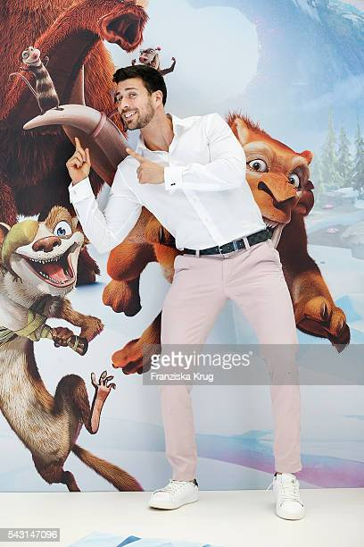 Leonard Freier the 'Bachelor' of the german TV show 'The Bachelor' attends the 'Ice Age Kollision Voraus' German Premiere at CineStar on June 26 2016...