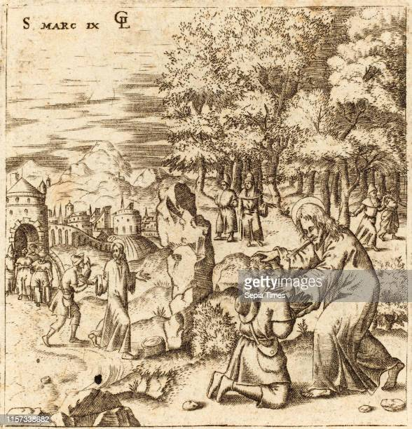 Leonard Gaultier The Epileptic Child Healed probably c 15761580 engraving