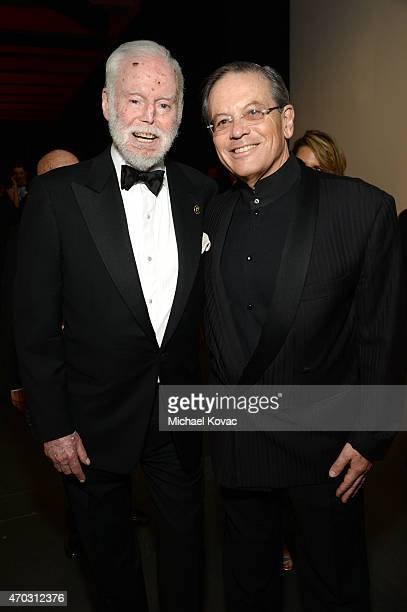 Leonard Goldberg and Ari Belldegrun attend LACMA's 50th Anniversary Gala sponsored by Christie's at LACMA on April 18 2015 in Los Angeles California