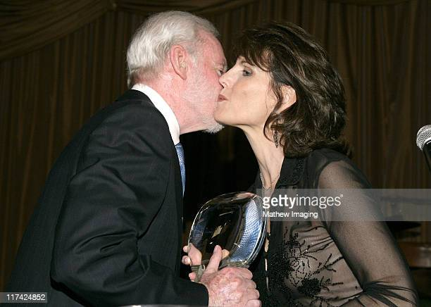 Leonard Goldberg and Lucie Arnaz during Academy of Television Arts Sciences Hall of Fame Ceremony Inside and Reception at Beverly Hills Hotel in...