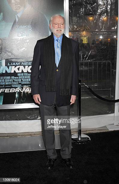 Leonard Goldberg arrives at the Unknown Los Angeles Premiere at Mann Village Theatre on February 16 2011 in Westwood California
