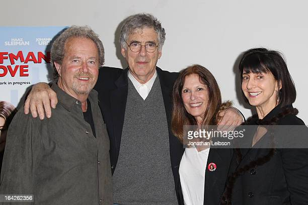 """Leonard Hill, Elliott Gould and Ruth Vitale attend the """"Dorfman In Love"""" Los Angeles premiere at Downtown Independent Theatre on March 21, 2013 in..."""