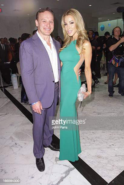 Leonard Hochstein and Lisa Hochstein attend the Black's Annual Gala 2013 at Fontainebleau Miami Beach on April 13 2013 in Miami Beach Florida