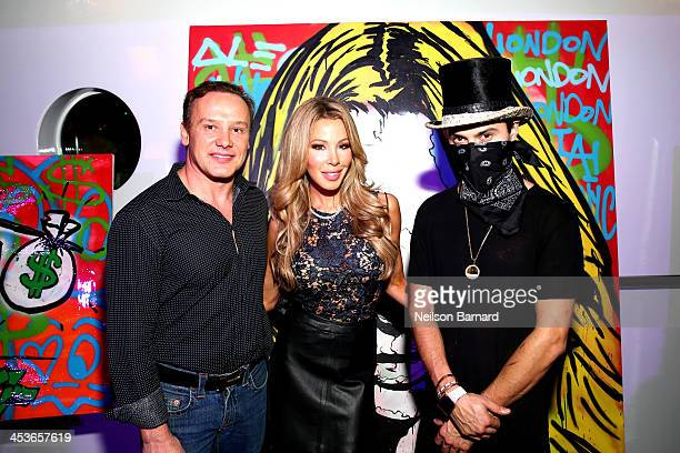 Leonard Hochstein Lisa Hochstein and Alec Monopoly attend the Samsung Galaxy celebration of the debut of Alec Monopoly's Man Overboard exhibition at...