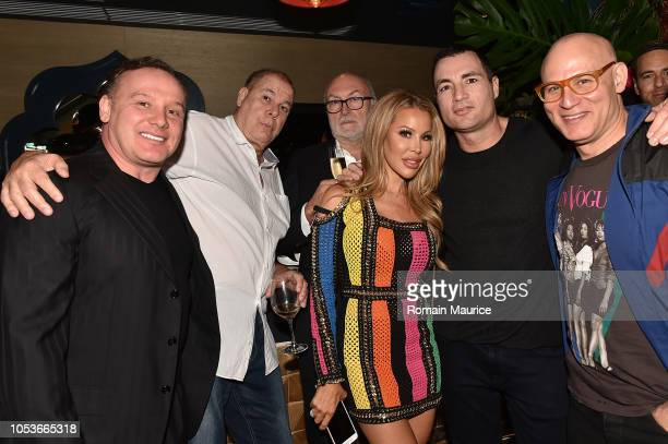 Leonard Hochstein Lisa Hochstein Chris Paciello Craig Robins and guests attend Haute Living's Haute 100 10th Anniversary Party at Swan Miami on...