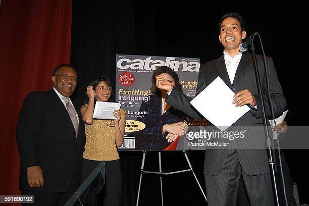 Leonard James Cathy Areu and Jesse Duran attend Groundbreaking Latina in Leadership Awards at Hudson Theatre on October 11 2005 in New York City