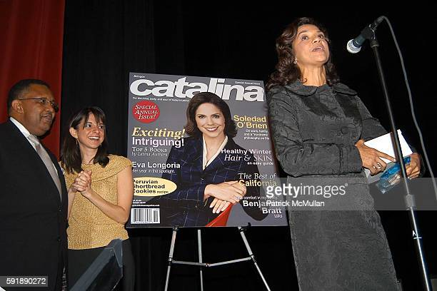 Leonard James Cathy Areu and Sonia Manzano attend Groundbreaking Latina in Leadership Awards at Hudson Theatre on October 11 2005 in New York City