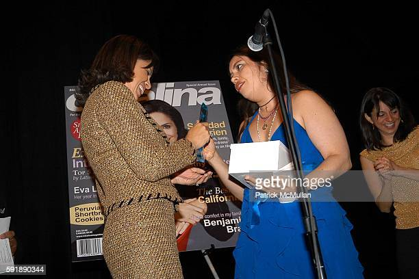 Leonard James Soledad O'Brien Vanessa Asillaga and Cathy Areu attend Groundbreaking Latina in Leadership Awards at Hudson Theatre on October 11 2005...
