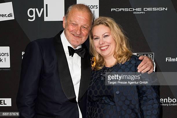 Leonard Lansink and his wife Maren Muntenbeck during the Deutscher Schauspielerpreis on May 20 2016 in Berlin Germany