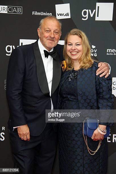 Leonard Lansink and Maren Muntenbeck attend the Deutscher Schauspielerpreis 2016 at Zoo Palast on May 20 2016 in Berlin Germany