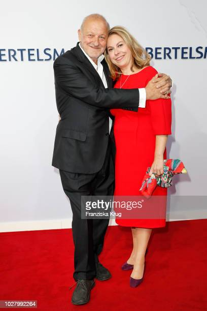 Leonard Lansink and wife Maren Muntenbeck attend the Bertelsmann Summer Party at Bertelsmann Repraesentanz on September 6 2018 in Berlin Germany