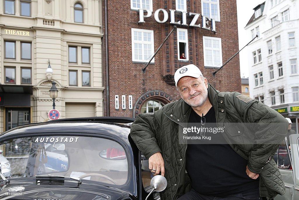 Leonard Lansink attends the Hamburg-Berlin Klassik Rallye 2013 - Day 3 on September 21, 2013 in Hamburg, Germany.
