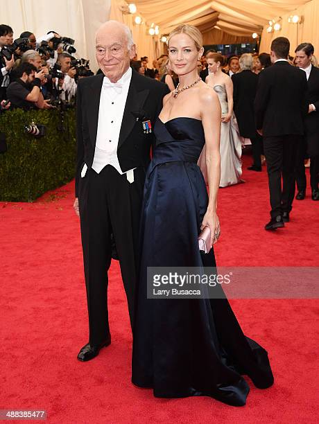 Leonard Lauder and Carolyn Murphy attend the Charles James Beyond Fashion Costume Institute Gala at the Metropolitan Museum of Art on May 5 2014 in...