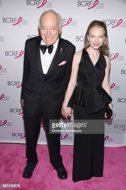Leonard Lauder and Danielle Lauder attend The Breast Cancer Research Foundation's 2017 Hot Pink Party at the Park Avenue Armory on May 12 2017 in New...