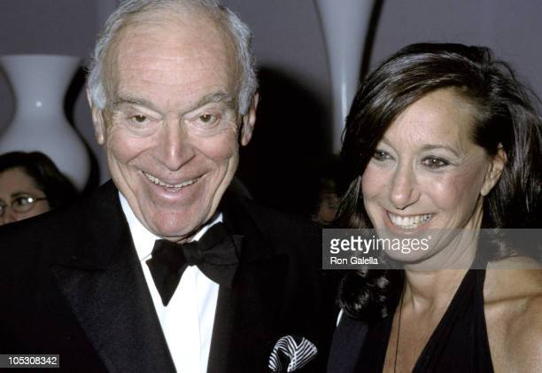 Leonard Lauder and Donna Karan during 2002 Black White and Whitney Annual Gala at Whitney Museum of American Art in New York City New York United...
