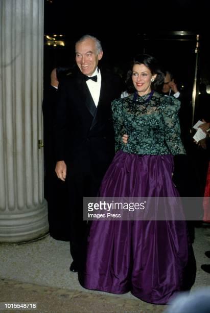 Leonard Lauder and Evelyn Lauderat the MET Gala circa 1987 in New York City