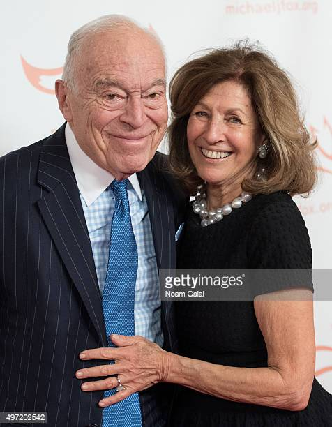Leonard Lauder and Judy Glickman Lauder attend the Michael J Fox Foundation's A Funny Thing Happened On The Way To Cure Parkinson's Gala at The...