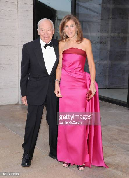 Leonard Lauder and Linda Johnson attend the Metropolitan Opera Season Opening Production Of Eugene Onegin at The Metropolitan Opera House on...