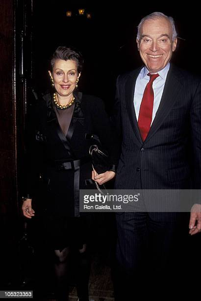 Leonard Lauder and wife during 38th Annual Winter Antiques Show at 7th Regiment Armory in New York City New York United States