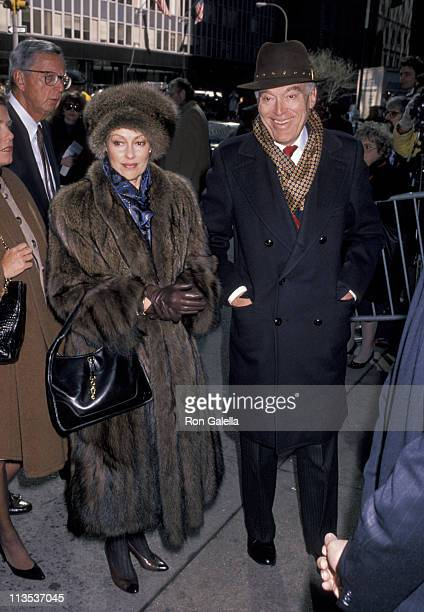Leonard Lauder and wife during Memorial Service For Malcolm Forbes at St Bartholomew's Episcopal Church in New York City New York United States