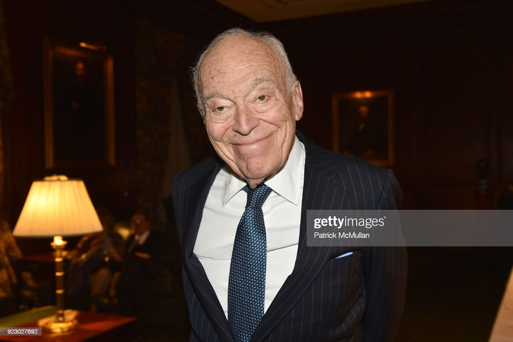 Leonard Lauder attends Symrise's Achim Daub & ReVive's Elena Drell Szyfer honored at BEYOND BEAUTY Dinner 2018; Special Speaker: Actor and Mental Health Advocate Danielle Lauder at The Union League Club on February 15, 2018 in New York City.