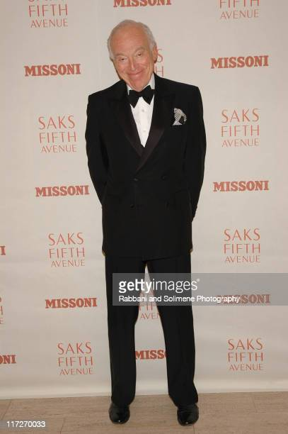 Leonard Lauder during Saks Fifth Avenue Premieres the New Missoni Fragrance for Women at Saks Fifth Avenue's Two Café in New York Great Britain
