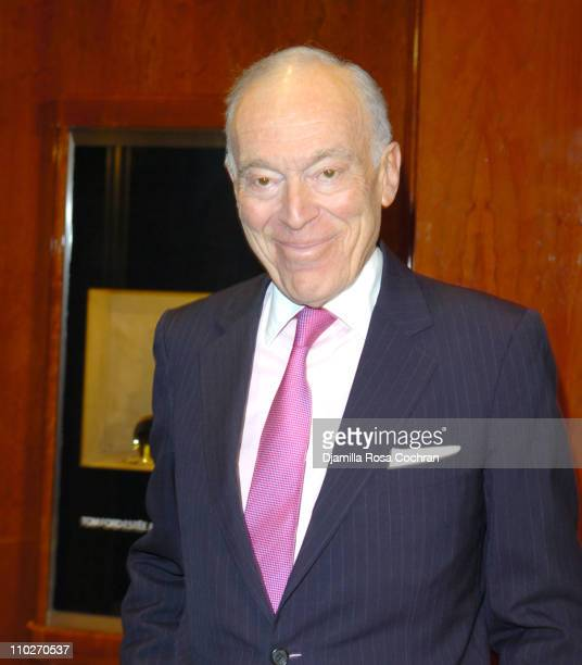 Leonard Lauder during Tom Ford Estee Lauder SAKS Launch at SAKS Fifth Avenue in New York City New York United States
