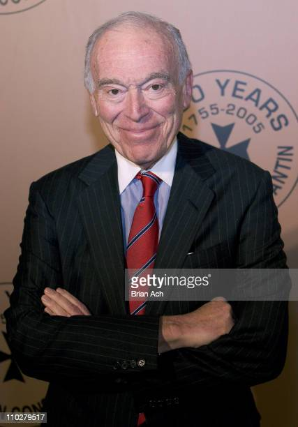 Leonard Lauder during Vacheron Constantin 250th Anniversary Celebration Hosted by Melania Trump at New York Public Library in New York City New York...
