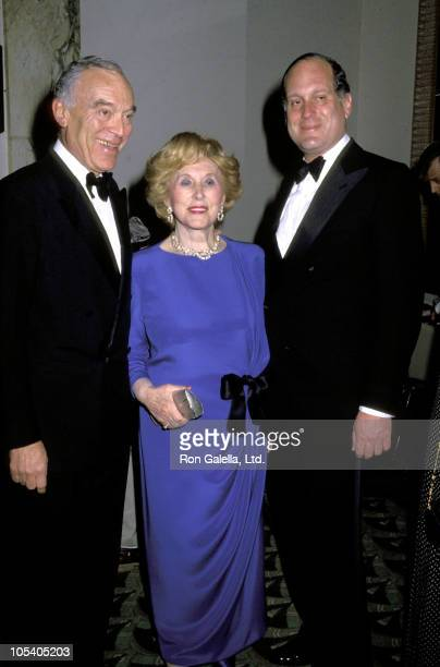 Leonard Lauder Estee Lauder and Ronald Lauder during 18th Annual FIFI Foundation Awards at Waldorf Astoria Hotel in New York City New York United...