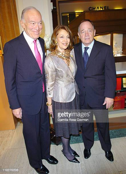 Leonard Lauder Evelyn Lauder and Fred Wilson during Tom Ford Estee Lauder SAKS Launch at SAKS Fifth Avenue in New York City New York United States