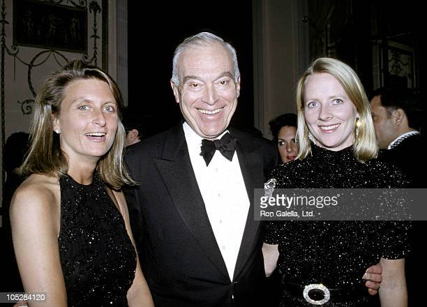 Leonard Lauder Linda Wells and Guest during 19th Annual Cosmetic Industry Beauty Ball for New York March of Dimes at The Waldorf Astoria Hotel in New...