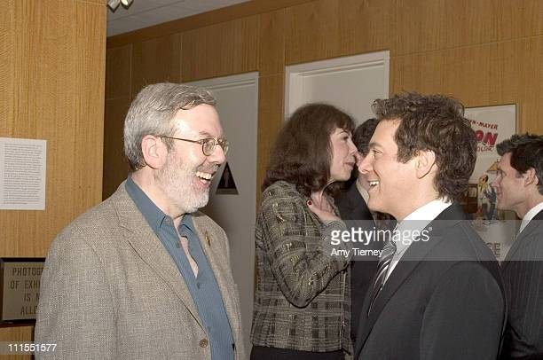 Leonard Maltin and Michael Feinstein during A Centennial Tribute to Harold Arlen at Academy of Motion Picture Arts and Sciences in Beverly Hills...